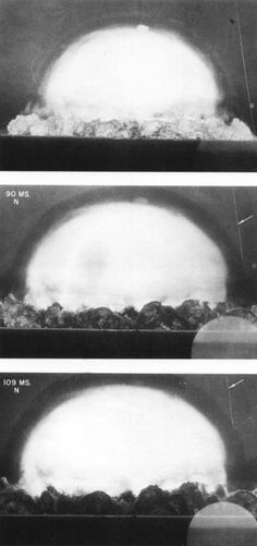 Trinity ever atomic bomb test) between about 90 and 109 milliseconds, showing optical refraction at the shock front. White Sands, New Mexico. First Atomic Bomb, History Taking, National Laboratory, Shock Wave, Academy Of Sciences, Film Strip, Previous Year, New Age, American History