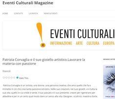 Patrizia Corvaglia Gioielli | Eventiculturalimagazine | passione | arte