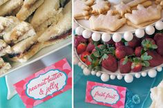 Really cute princess food ideas...Little Mermaid Tea Party {Real Parties I've Styled}