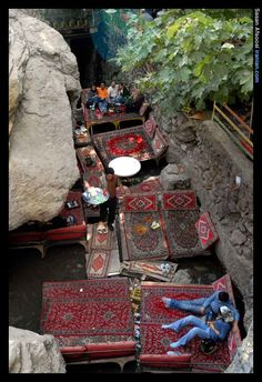 Darband, Iran. Outdoor Cafe.