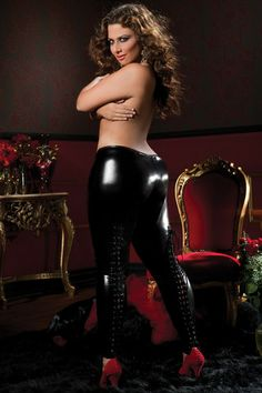 Plus Size Shiny Stretch Lame Tights at Lace Your Curves!