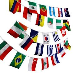 """Amazon.com : NAVADEAL 8""""x12"""" World Flags Combo Hanging National Countries Olympic Games Sports Assorted Nation : Sports & Outdoors"""