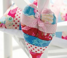 Stitched Fabric Hanging Heart