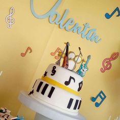 Musical birthday party   CatchMyParty.com Little Man Birthday Party Ideas, First Birthday Parties, 3rd Birthday, Music Themed Parties, Music Party, Rock Star Theme, 1st Birthdays, Vivienne, Joseph