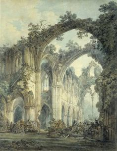 Joseph Mallord William Turner 'Inside of Tintern Abbey, Monmouthshire', exhibited 1794 © Victoria and Albert Museum