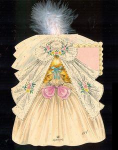 1947 Hallmark Doll Card MEG Little Women Series from memoriesofthingspasttoo on Ruby Lane..
