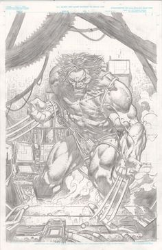David Finch - Weapon X-Pencils Only//David Finch/F/ Comic Art Community GALLERY OF COMIC ART