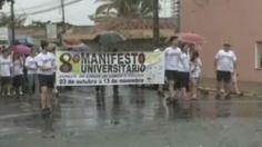 """8º Manifesto Universitário de Combate do Câncer de Cabeça e Pescoço e o 4º """"COB em Ação"""" na TV Record. Fonte: Record Rio Preto"""