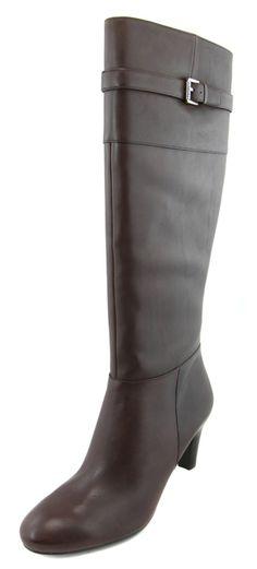 Lauren Ralph Lauren Women's Dark Brown Susie Leather Boots