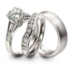 Couple platinum diamond wedding ring