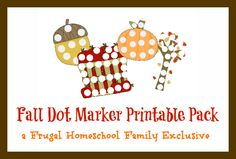 Free Fall Dot Marker Printable Pack {7 pages}
