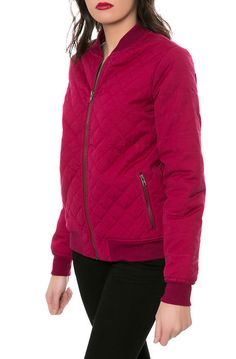 The Mason Bomber Jacket in Plum Berry