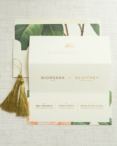 Vintage-Meets-Modern Floral Wedding Invitations by Atheneum Creative