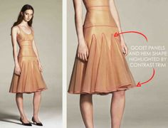 The Cutting Class | Godet Panels on Skirts and Dresses at Richard Nicoll - click through for drawing