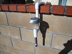 PVC Solar Light Holder