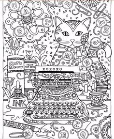 185x21cm Creative Haven Cats Coloring Book For Adults Latest Trend In Anti