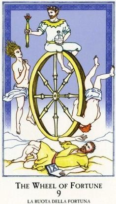 9 The Wheel of Fortune - Minchiate Tarot by Brian Williams