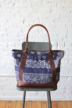 Bag made from 1960's era uncut bandana fabric. FORESTBOUND