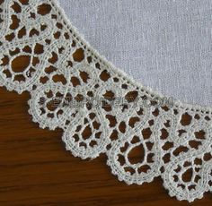 Battenberg lace machine embroidery design - detailed view