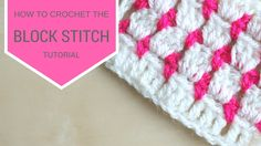 """Learn to Crochet with Girlybunches - Crochet Block Stitch - Tutorial This weeks video. CLICK """"SHOW MORE"""" is how I made this Crochet Block Stitch Check ou. Grannies Crochet, Crochet Box, Free Crochet, Crochet Hats, Dishcloth Crochet, Crochet Blankets, Crochet Scarves, Double Crochet, Crochet Block Stitch"""