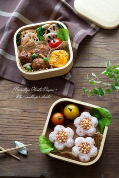 "Flower rice ball lunch | Oh mama official blog ""every day is lunch weather ???"" Ru Powered by Ameba"