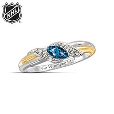 Wear a stunning tribute to your favourite hockey team with the Pride of Winnipeg Embrace Ring