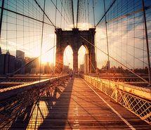 Inspiring picture brigde, light, manhattan bridge, photography, sunset.