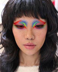 90s Makeup, Eye Makeup Art, Crazy Makeup, Girls Makeup, Makeup Inspo, Makeup Inspiration, Beauty Makeup, Face Makeup, Cool Makeup Looks