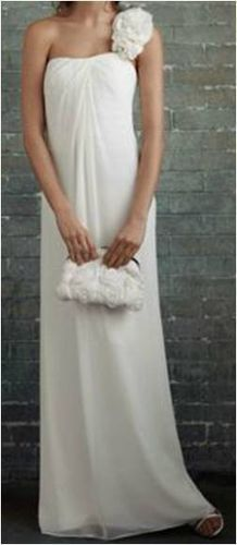One-Shoulder Gown (David's Bridal, now $249.99)