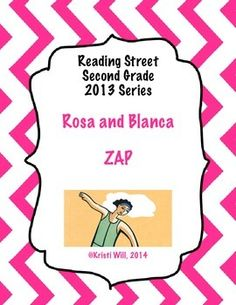 ZAP is a game used to practice reading spelling, high frequency, and amazing words that go along with Reading Street's story Rosa and Blanca (Unit 3, Story 4) in the 2013 edition for second grade. This is a great review game to use in centers or small group.