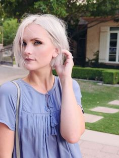 The perfect summer-to-fall sundress in the most perfect shade of blue! Pair with ankle boots - Whippy Cake