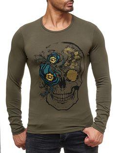 Red Bridge Herren Hardy Skull Motiv Pullover Sweatshirt Longsleeve Grün   skull  totenkopf  Muster  fashion  style  art  new  kaufen  shopping   herren ... 2734f03db5