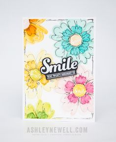 Smile card | by Ashley Cannon Newell