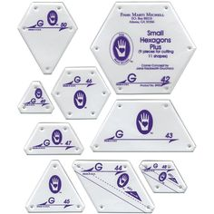 Perfect Patchwork Template-Set G - Small Hexagon Set 9/Pkg: Amazon.es: Hogar