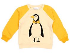 Mini Rodini, Beige Penguin Sweatshirt