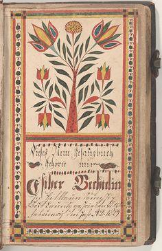 Bookplate (Bücherzeichen) for Esther Bechtel - Fraktur