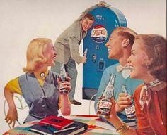 Pepsi Cola old ad Retro Advertising, Vintage Advertisements, Vintage Ads, Vintage Signs, Vintage Posters, Retro Posters, Vintage Food, Vintage Images, Vintage Items