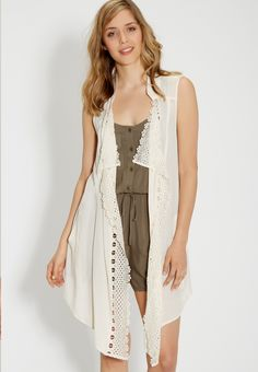 lightweight vest with lace