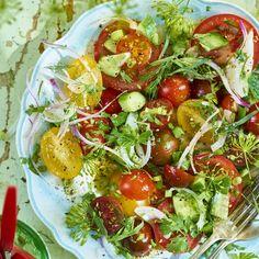 Side salad med krondilldressing