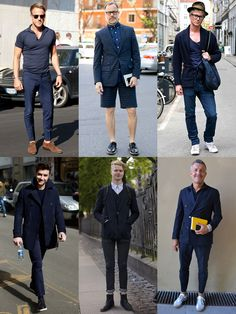 Men's Street Style - All-Navy Outfits