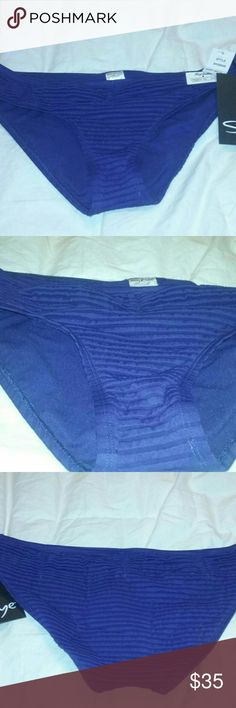 Skye Bikini Bottom Ruched Hipster L Blue NEW $50 Skye Bikini Bottom Ruched Hipster Blue NEW $50 Misses Large  New with tags, but no protective panty shield. Pretty royal blue color! Skye Swim