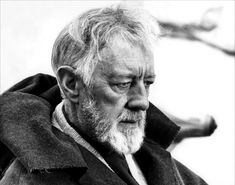 Alec Guinness in Star Wars, Episode VI: Return of the Jedi directed by Richard Marquand and George Lucas, 1983