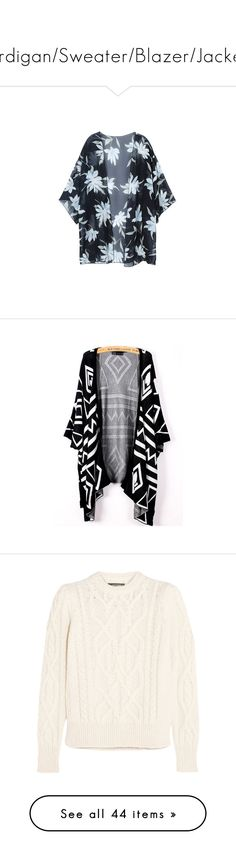 """""""Cardigan/Sweater/Blazer/Jacket"""" by lalittaaristha ❤ liked on Polyvore featuring swimwear, cover-ups, black, women swimwear cover-ups, swim cover up, chiffon cover up, floral swimwear, sexy cover ups, bikini cover ups and tops"""