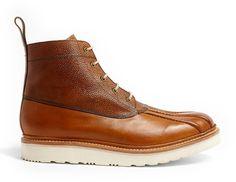 Tan Vibram Spike Duck Boots - Lyst