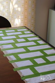 create your own fabric with painters tape, crafts, Create your pattern against your chosen fabric