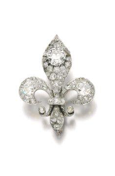 Diamond brooch, late 19th century. | © 2014 Sotheby's