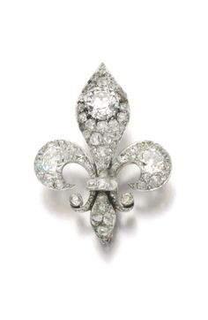 Diamond brooch, late 19th century. | © 2014 Sotheby's