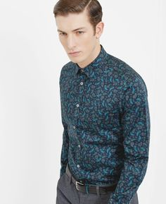 6540802dcbdc Discover men s shirts from Ted Baker. His wide-ranging collection boasts  bespoke prints
