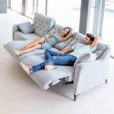 AVALON Sofa in Blue by Fama Living from SpainYou can find Reclining sofa and more on our website.AVALON Sofa in Blue by Fama Living from Spain