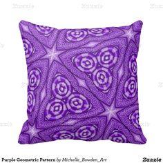 Purple Geometric Pattern Throw Pillows